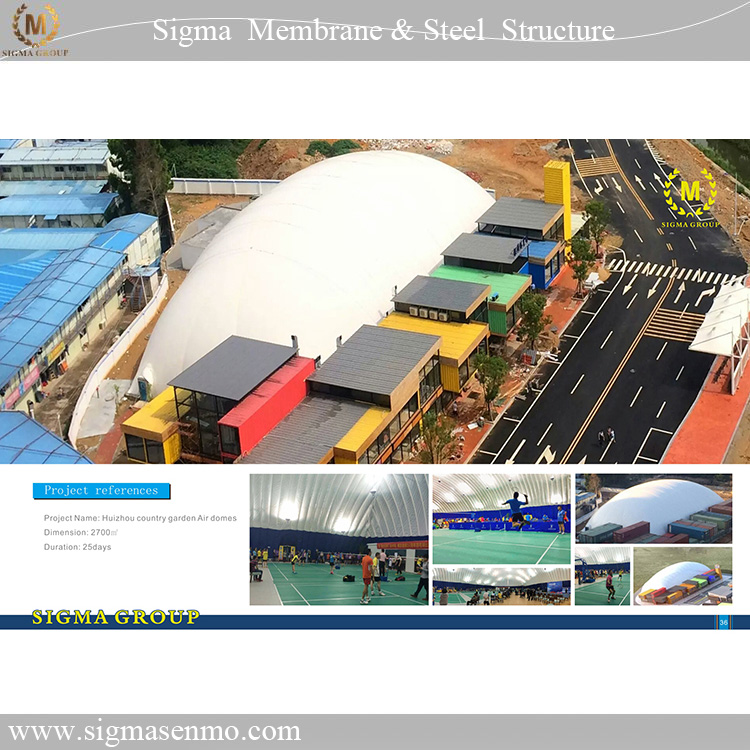 Giant inflatable air dome tents for outdoor event/sport/warehouse/workshop