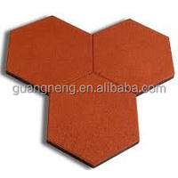 outdoor recycled hexagonal rubber pavers lowes