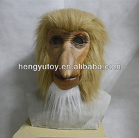 2014 Adult Party Costume Deluxe Design Wholesale Toys latex Proboscis Monkey Head Mask With realistic appearance