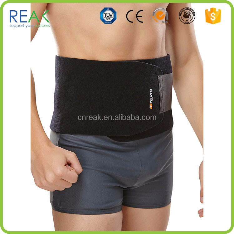 Hot selling polyester.neoprene Black back waist support