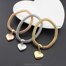 cheap bulk wholesale fashion charm bracelet hearts jewelry imported from china