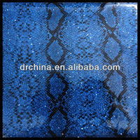 2013 Made in China High Heel Material PVC glitter leather
