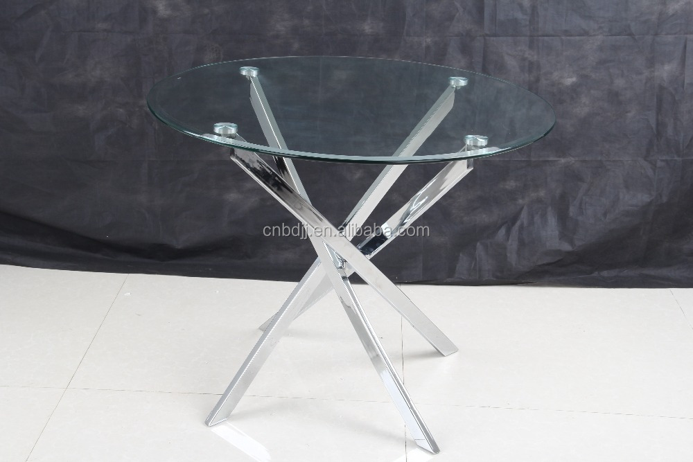 China modern restaurant office cheap round glass table and chair set