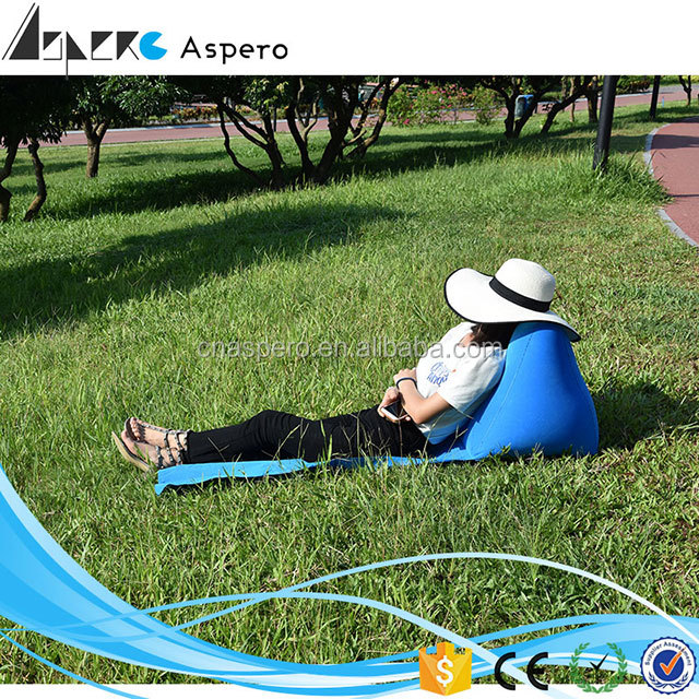 CE Approved Outdoor Convenient Inflatable Air Lounger/Inflatable Sleeping Bag Lazy Bag Air Sofa