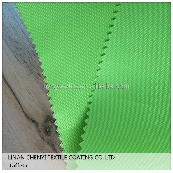 100 polyester colorful taffeta lining plain