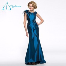 Feathers Pleat Sequined Beading Vintage Mother Of The Bride Dresses