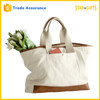 Custom Factory Price Heavy Duty Blank Canvas Leather Bag With Front Pocket