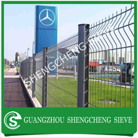 Dark green Powder coated wire fence panel welded fence with free package