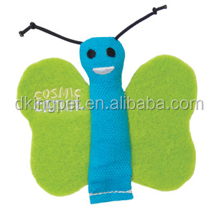 Canvas & Felt Butterfly Toy for Cat