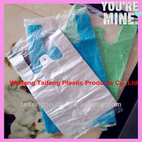 HDPE T-shirt plastic bags for shopping