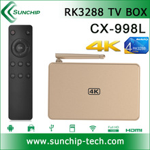SUNCHIP 998L RK3288 Quad Core 2G/8G Dual Band Wifi 4K Player XBMC Jailbreak tv box android tv box rk3288 with hd4k