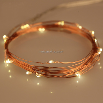 2016 New small battery operated led light copper wire led fairy light