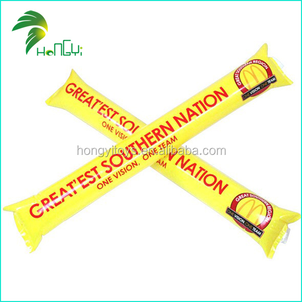 Top quality printing inflatable balloon stick clappers