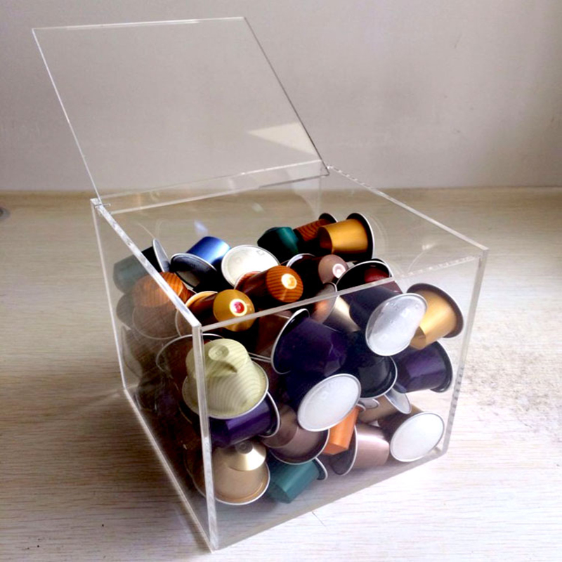Acrylic Coffee Capsule Display Dispenser with lid