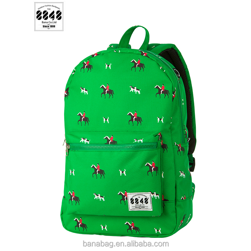 Cheap Waterproof Cute Pretty Green School Bags Backpack