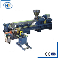 Double stage PP PE waste plastic pelletizing line/granulating machine