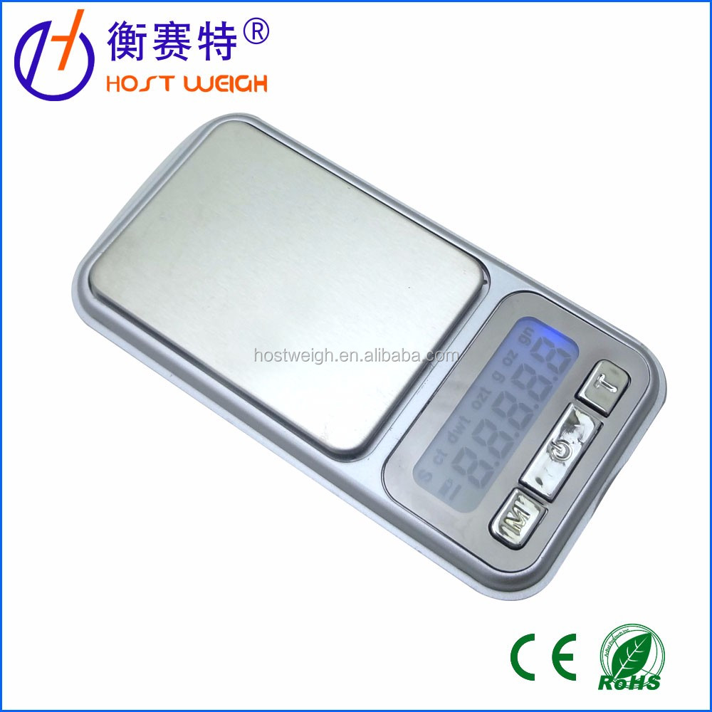 0.01oz/0.1g 500g Digital Pro Pocket Scale with Back-Lit LCD Display Silver
