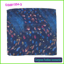2016 wholesale new fashion petal printing scarf women hijab