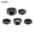 Best travel photo kits 5 in 1 phone camera extra lens fisheye wide angle macro lens wholesale