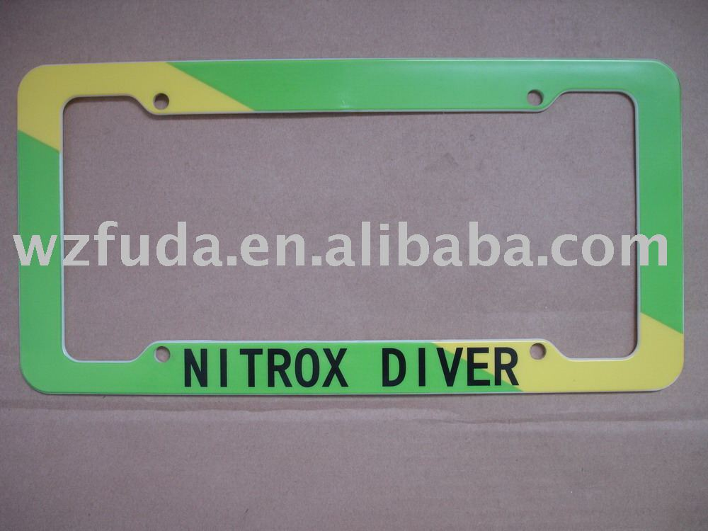 auto licene plate frame use standard of plastic