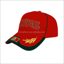 New embroidery sports baseball hat /baseball cap Portugal country flag