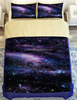 Four Piece Set 100% polyester galaxy printed bedding set adult/ kids quilts cover