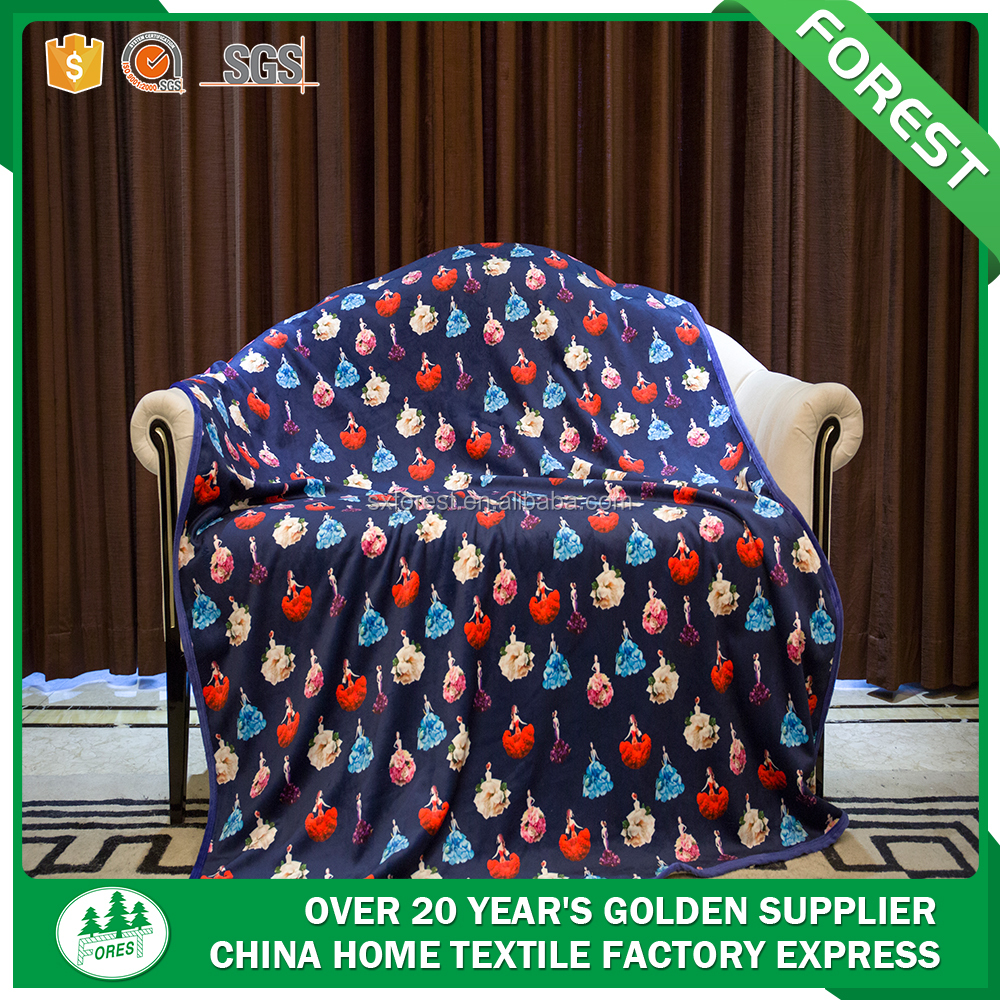 Home textiles China Factory wholesale 3D fashion printing Blanket bedding