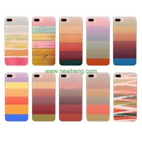 Ultra-Thin Stripe Pattern IMD Printing half Transparent Protective Tpu Case For Iphone7