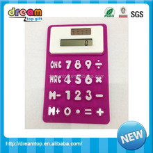 foldable rubber mini silicone scientific fancy foldable rubber calculator