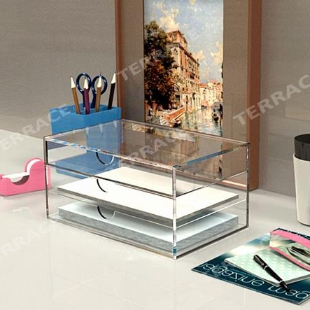 Acrylic Home/Office File Paper Desk Accessories & Organizer
