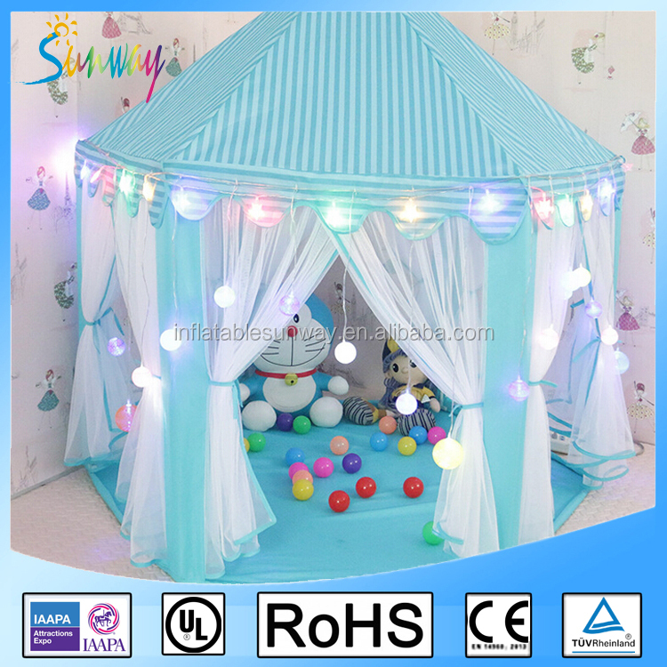 Sunway Pink Blue Princess Tent Kids Igloo Play Tent Castle Tent Pop Up Play House
