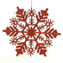 Cheap Wholesale 10CM color Plastic Christmas Ornaments Snowflakes