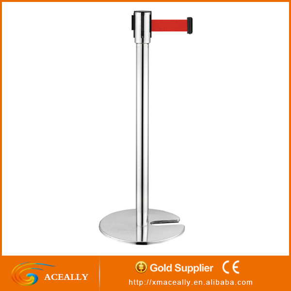 Double belts retractable queue stand/queue line stand/queue barrier
