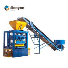 QT4-24 simple electric vibrate type concrete hollow cheap brick force making machine south africa