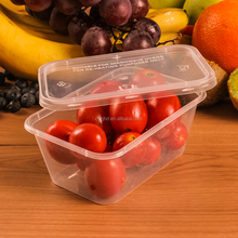 plastic clear container +lids microwave freezer safe takeaway food storage 650ml