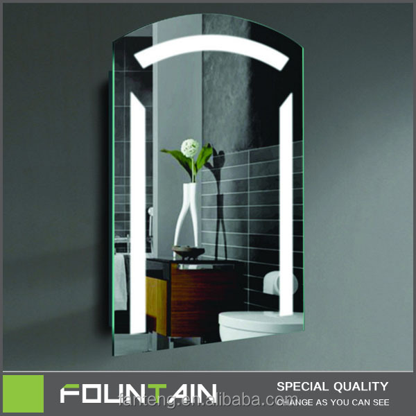 Modern Back Lighted Bath Mirror for Home Decoration Touch Screen Bathroom Makeup Mirror
