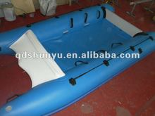 (CE)5persons optional transom or floor imported pvc pontoon boat