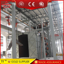 Steel structure hook continusous shot blasting machine