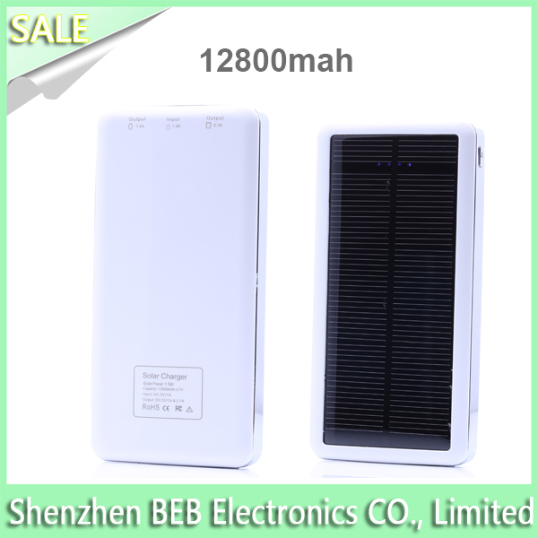 Manufacture 12800mah solar powered battery trickle charger