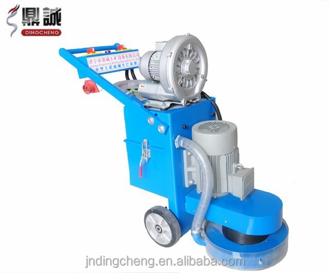 Electric oil ground polisher, machine to smooth concrete floor