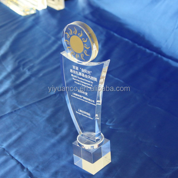 clear acrylic award and trophy