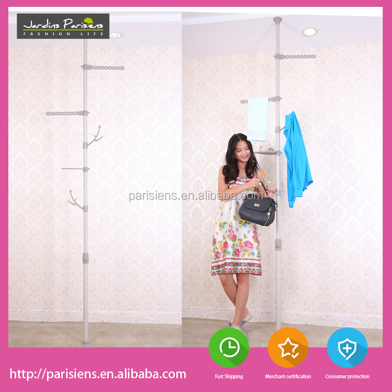 2017 modern best price standing metal collapsible wall pole coat rack