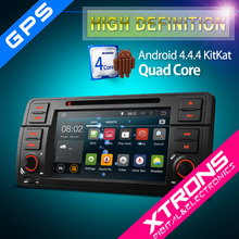 XTRONS PF7346BA 7 inch Android 4.4.4 quad core android car radio 1 din for bmw e46 with wifi 3g