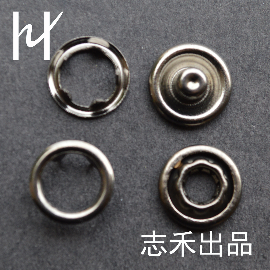 Stock High quality metal brass snap button prong snap button for garment brass spring snaps