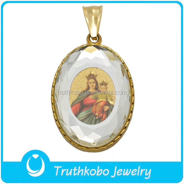 TKB-P0675 Factory New Designs Jewelry Mother and Her Child Acrylic Photo Pendant