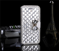 Luxury Bling Bling Crystal Diamond Leather Card Holder Wallet Flip Case for iPhone 6 6s
