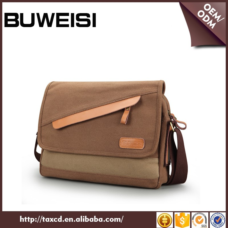 BUWEISI cheap vintage canvas casual messenger bags for men