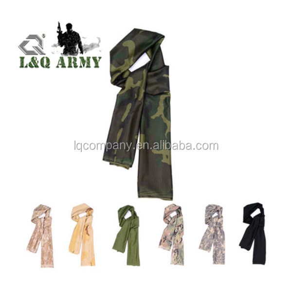 Hiking Camouflage scarves Outdoor Military Tactical Mesh Scarf Breathable