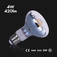 CE RoHS UL dimmable filament led bulb R80 4W/6W/8W led bulb lights e27