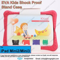 Kids Light Weight Shock Proof Handle Case for iPad Mini / Mini 2 / Mini 3,non-toxic Tablets EVA foam cases for Baby